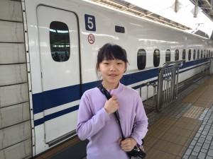 今から新幹線に乗ります