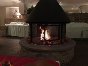 雰囲気のある暖炉